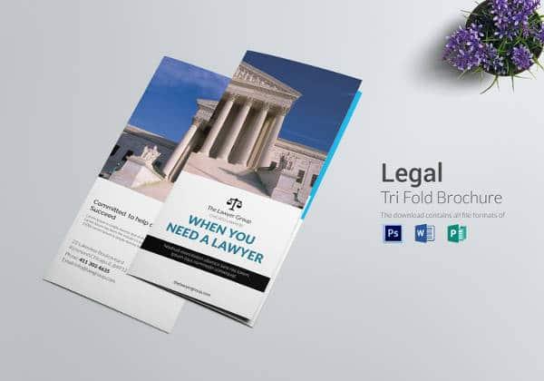 Brochura Jurídica Modelo Tri-Fold