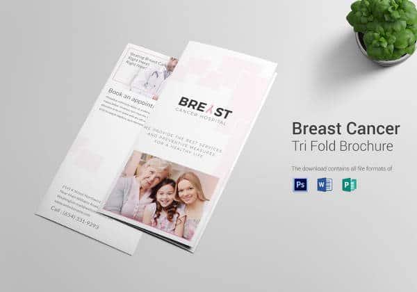 Brochura Tri-Fold Câncer De Mama