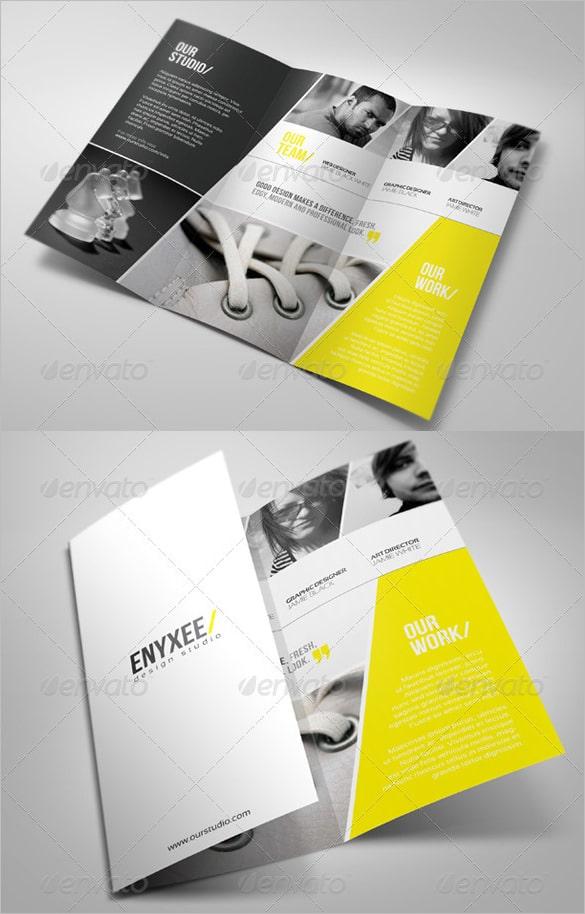 Brochura Tri-Fold Única PSD