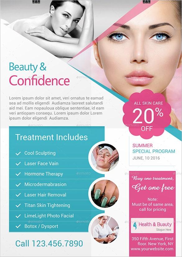 Brochura Folheto TriFold Saúde Beleza