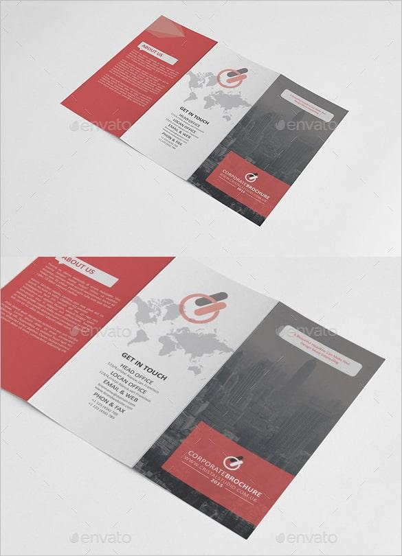 Design de brochura corporativo tri-fold