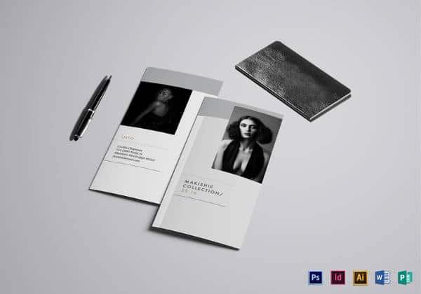 Modelo de Brochura editável moda tri-fold