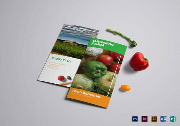 Projeto de folheto de dobramento alimento